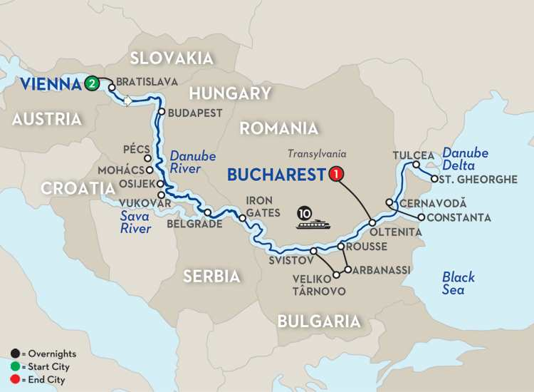 BLUE DANUBE TO THE BLACK SEA – EASTBOUND