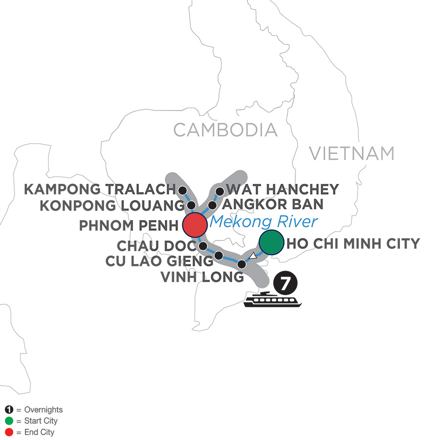 Mekong Discovery - Cruise Only Northbound (WHS02019)