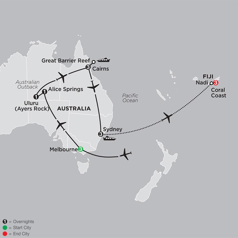 Highlights of Australia with Fiji (33582019)