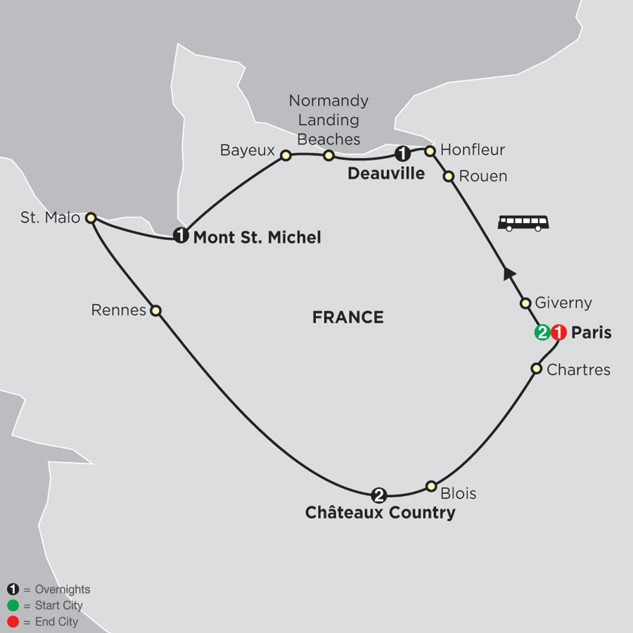Paris, Normandy and the Loire (47502019)