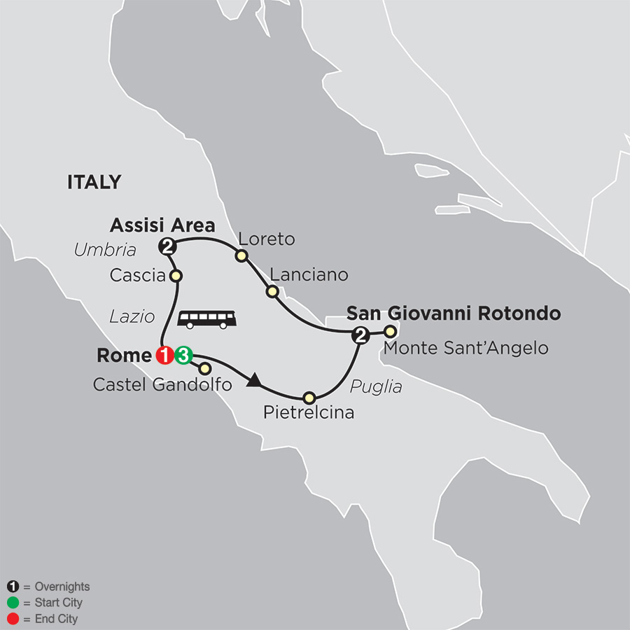 Spiritual Highlights of Italy - FaithBased Travel (53002019)