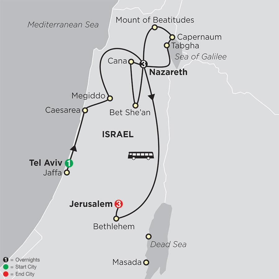 Holy Land Discovery FaithBased Travel - Catholic Itinerary (53202019)