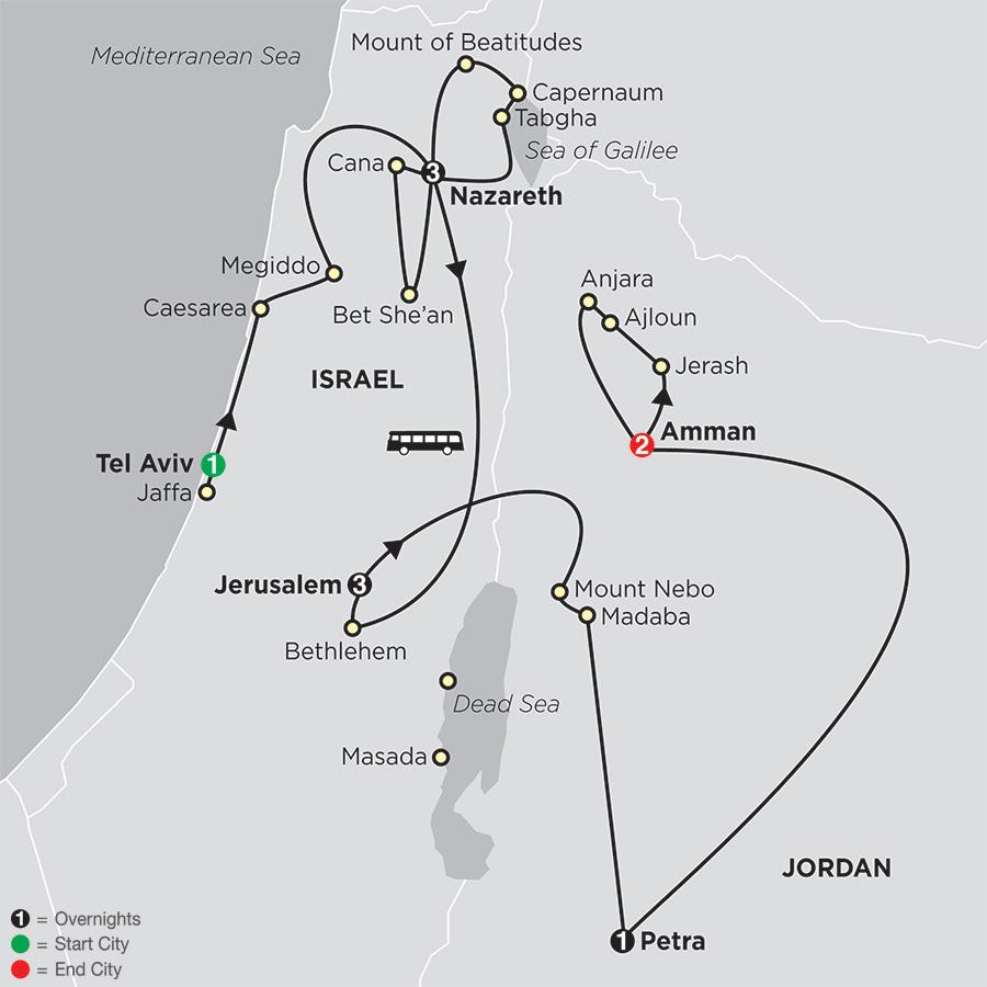 Holy Land Discovery with Jordan FaithBased Travel - Catholic Itinerary (53252019)