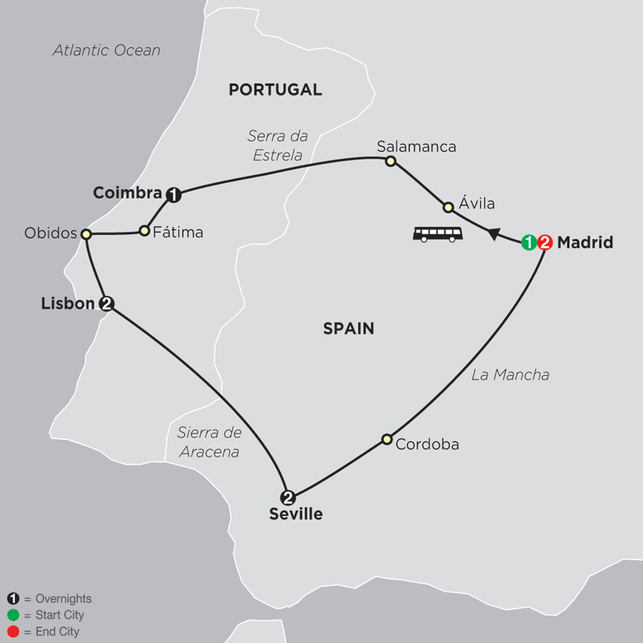 Lisbon, Seville and Madrid (67902019)