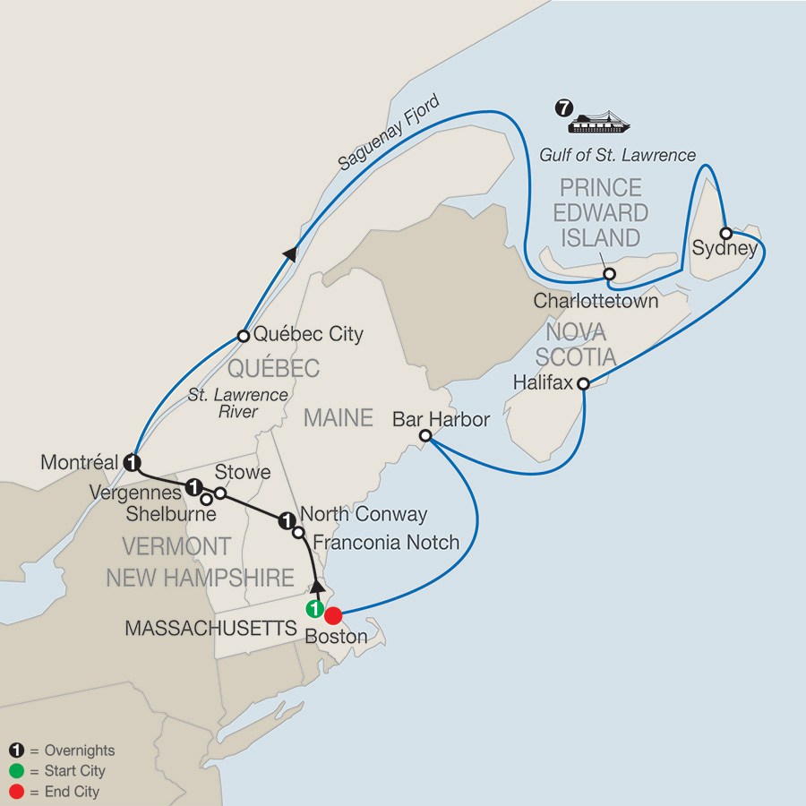 Passage through New England and Eastern Canada (CA2019)