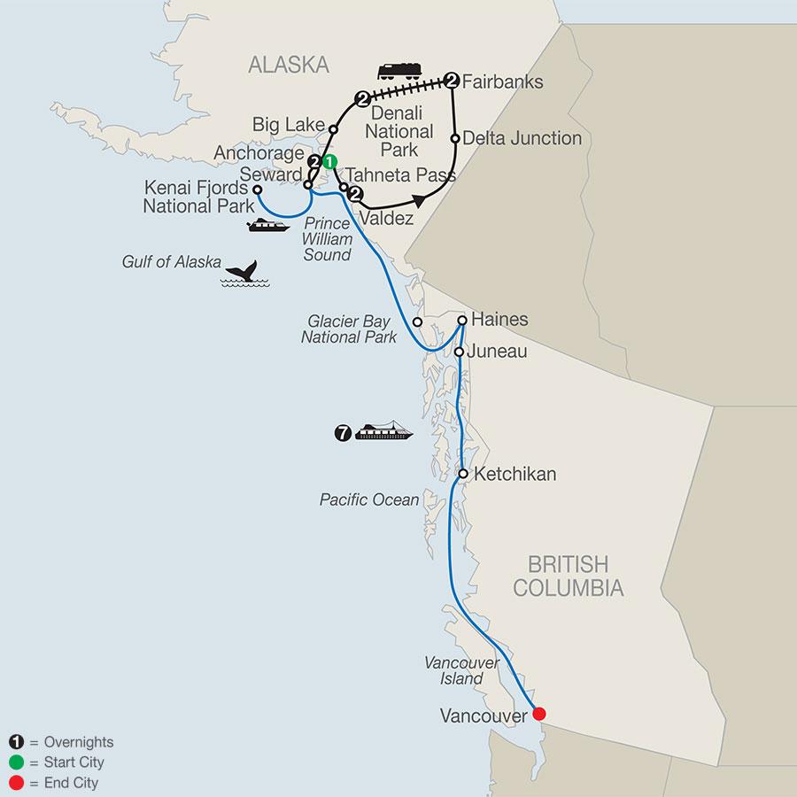 Spectacular Alaska! with Alaska Cruise (AJI2020)