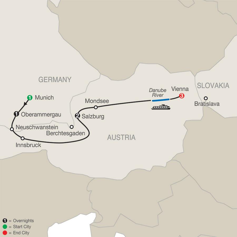 Munich, Salzburg and Vienna with Oberammergau (RTO2020)