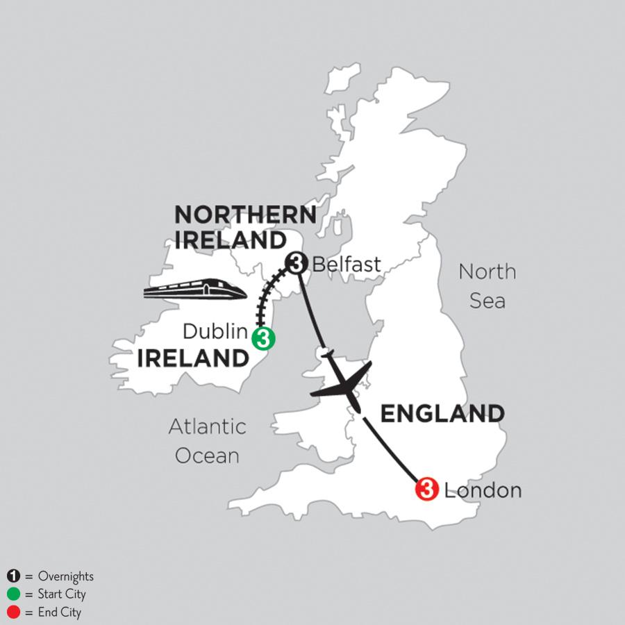 3 Nights Dublin, 3 Nights Belfast and 3 Nights London (DEB2019)