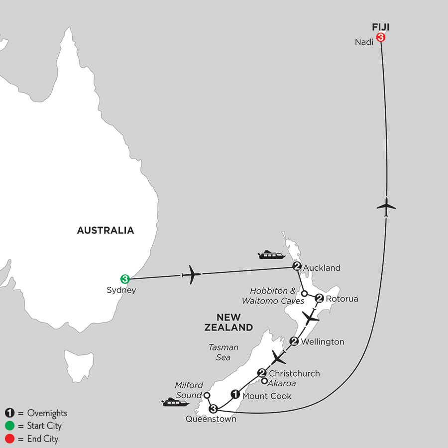 Naturally New Zealand with Sydney and Fiji (IPNH2019)