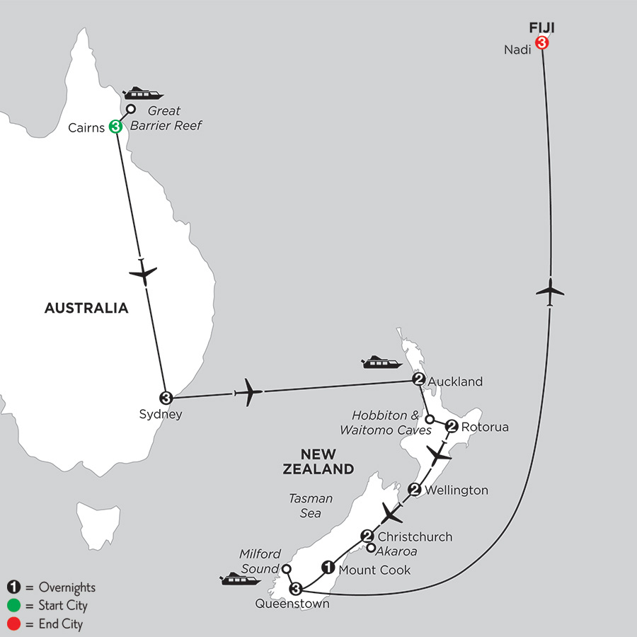 Naturally New Zealand with the Great Barrier Reef, Sydney and Fiji (IPNI2019)
