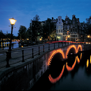 Enjoy the lovely canals of Amsterdam