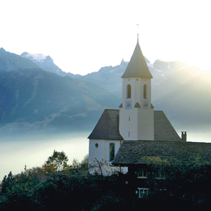 A church on an Austrian mountaintop