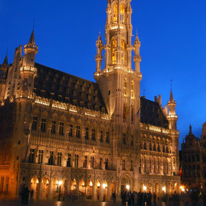 View the magnificent Gothic and Baroque architecture on the Grand Place in Brussels