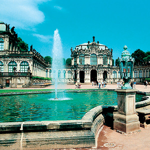 Dresden, Germany, situated along the River Elbe
