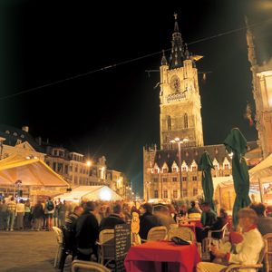 Experience the beautiful city of Ghent in the evening