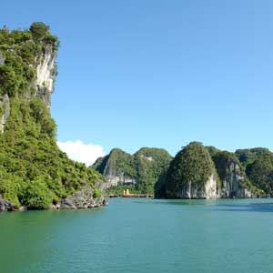 The lovely Ha Long Bay in Vietnam