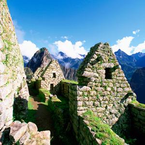 The ancient ruins of Machu Picchu