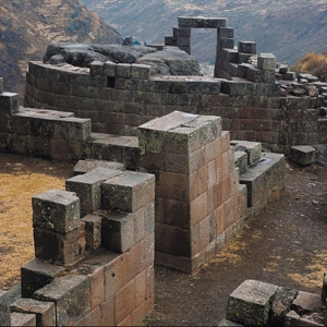The Peruvian village of Pisac