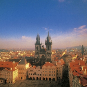 "Overlooking ""the Golden City"" of Prague"