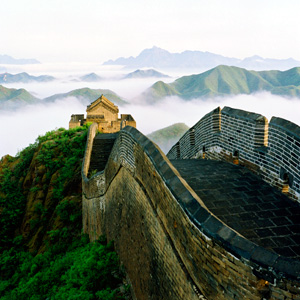 The Great Wall stretches from Shanhaiguan in the east, to Lop Lake in the west and measures 5,500.3 miles