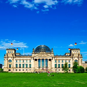 The Reichstag building is a historical building in Berlin, Germany that was built in 1894