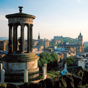 View over Auld Reekie in Edinburgh, Scotland