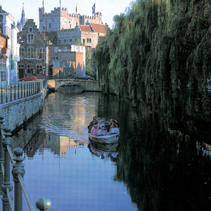 Enjoy the scenic canals in Ghent