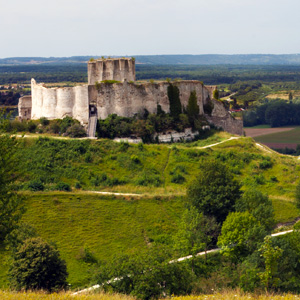 Chateau Gaillard in Les Andelys, France