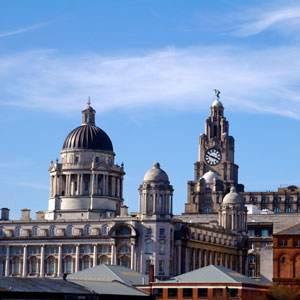 Enjoy the historic architecture of downtown Liverpool