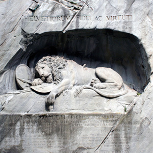 The Lion Monument or the Lion of Lucerne, is a sculpture in Lucerne, Switzerland