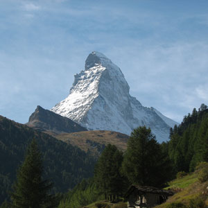 View Switzerlands most famous landmark, the majestic Matterhorn