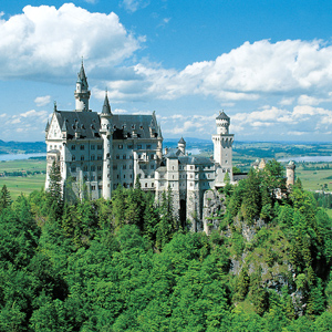 The 19th-century Bavarian Palace of Neuschwanstein Castle