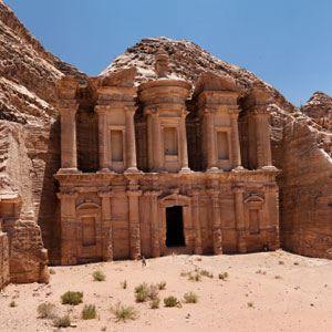 Explore the ruins of the Monastery in Petra, Jordan