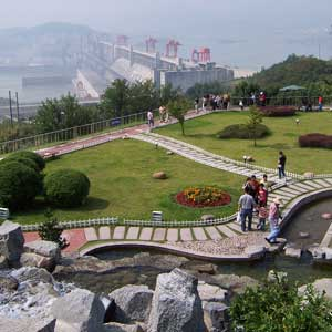 The grand Three Gorges Dam is the largest hydro-electric power station in the world