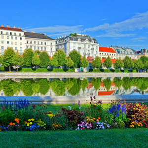 The Belvedere gardens in Vienna, Austria