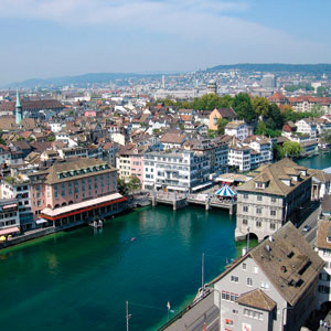 Walk through the beautiful streets of Zurich