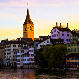 The Limmat river in Zurich, Switzerland
