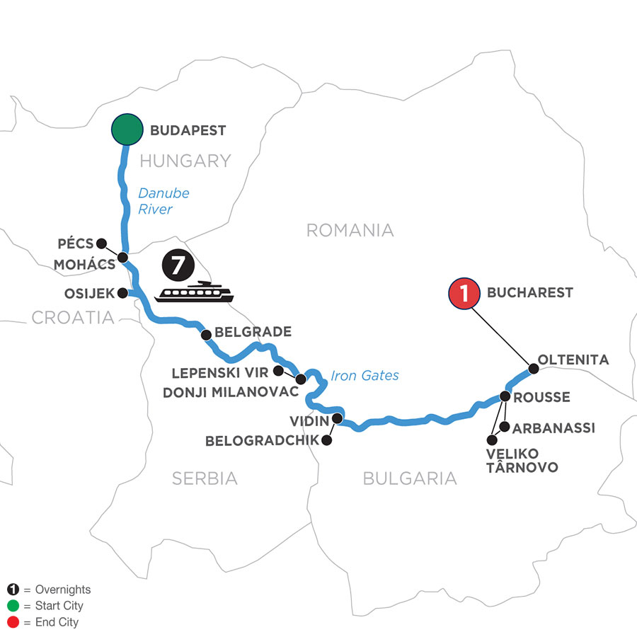 River Cruise Map of Balkan Discovery