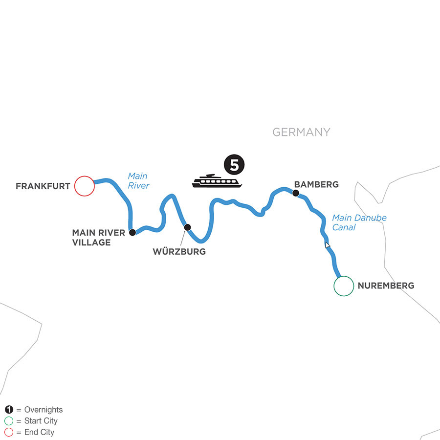 River Cruise Map of Festive Season in the Heart of Germany