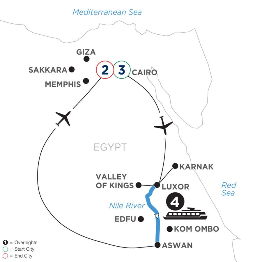 River Cruise Map of Taste of Egypt