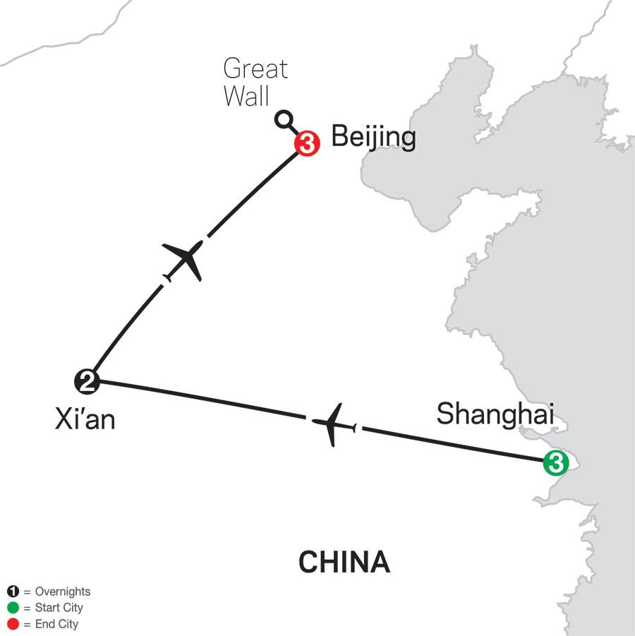 China Experience map