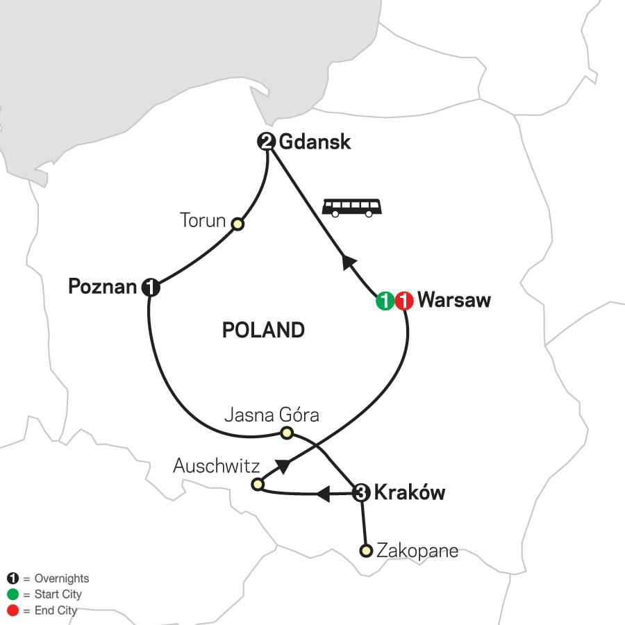 Portrait of Poland map