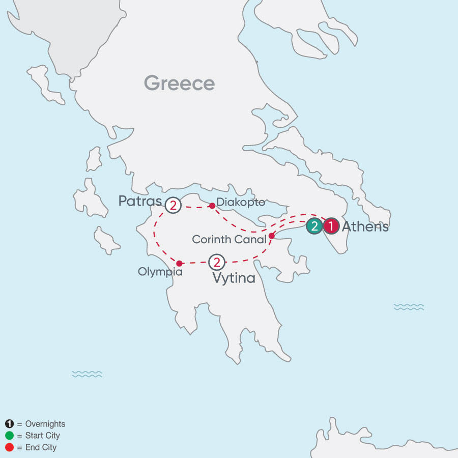 Greece Explorer map