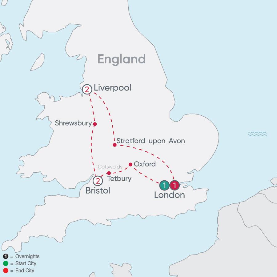 England Explorer map