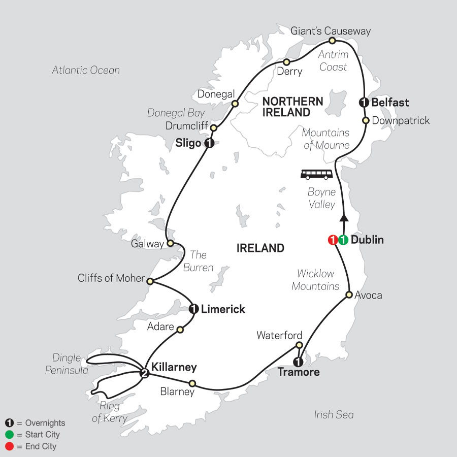 Irish Discovery map