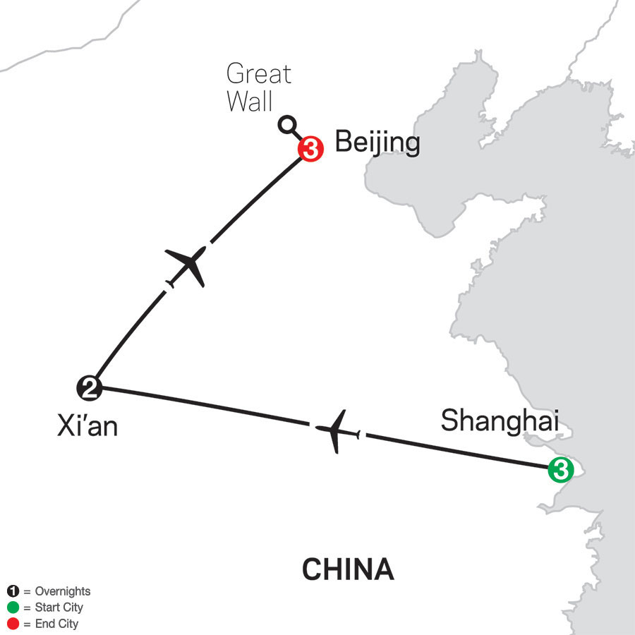China Experience map