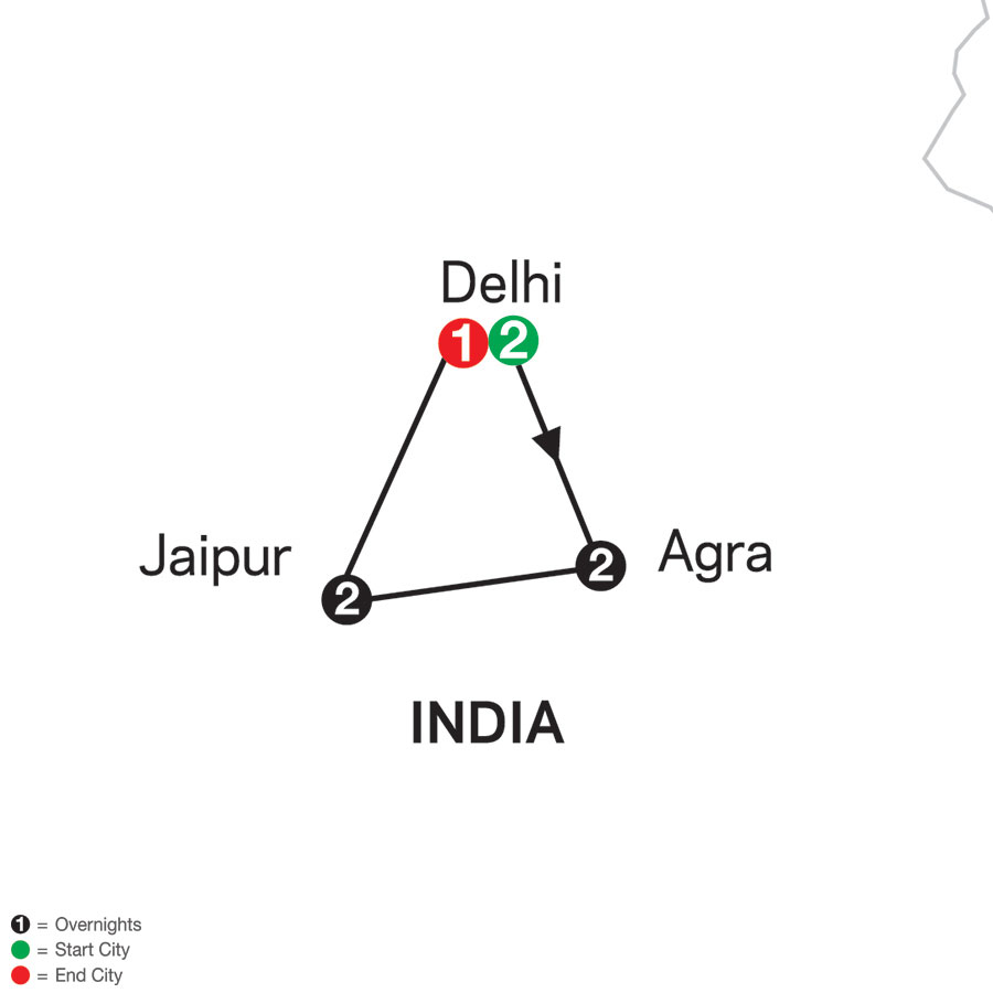 India's Golden Triangle map