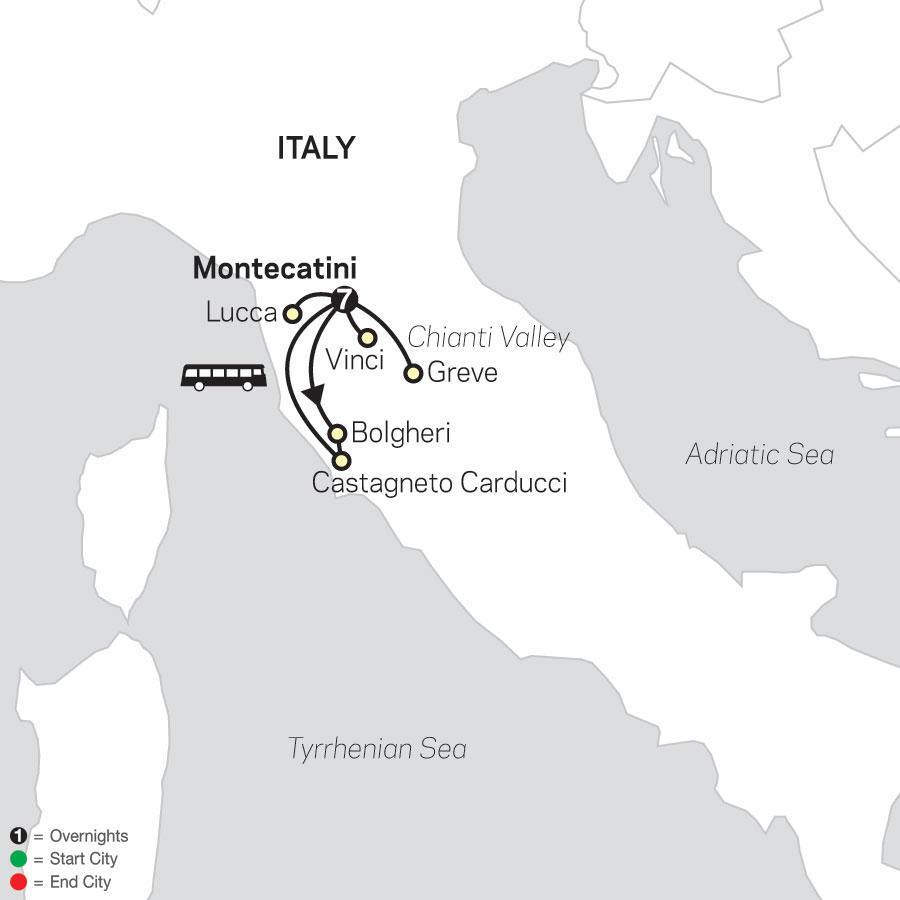 Gourmet Tuscany map