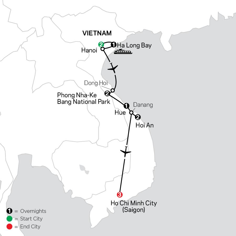 Simply Vietnam map