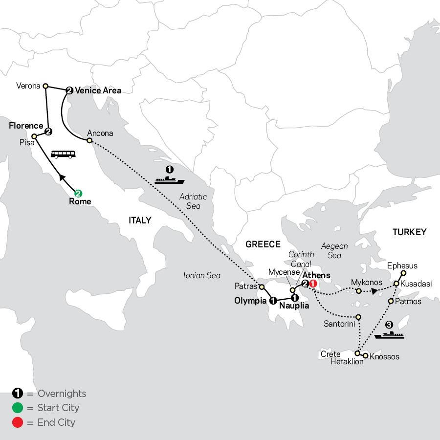 Italy & Greece